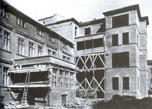 האגף המזרחי ובית הכנסת של בית החולים בשנת 1937